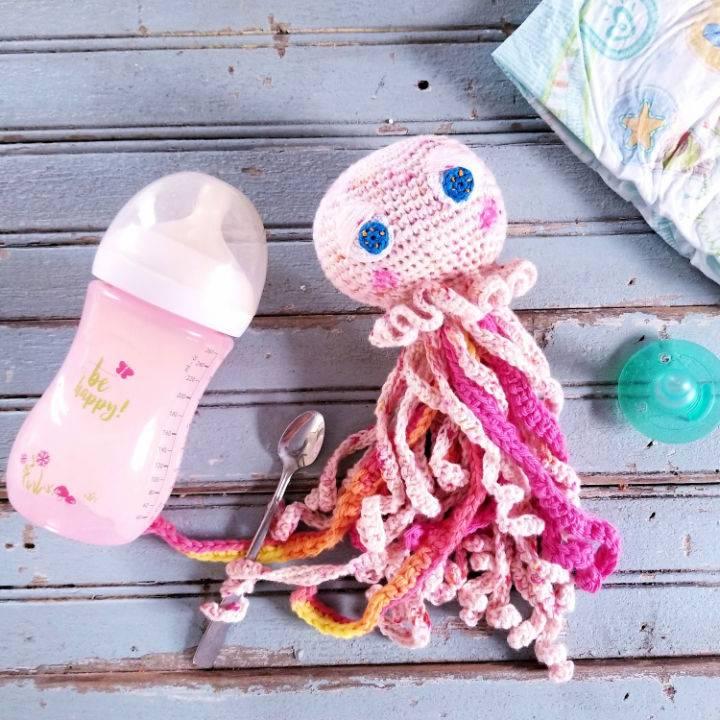 Crochet Amalfi the Baby Jellyfish Amigurumi
