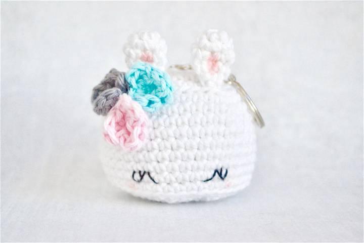 Crochet Bea the Bunny Keychain