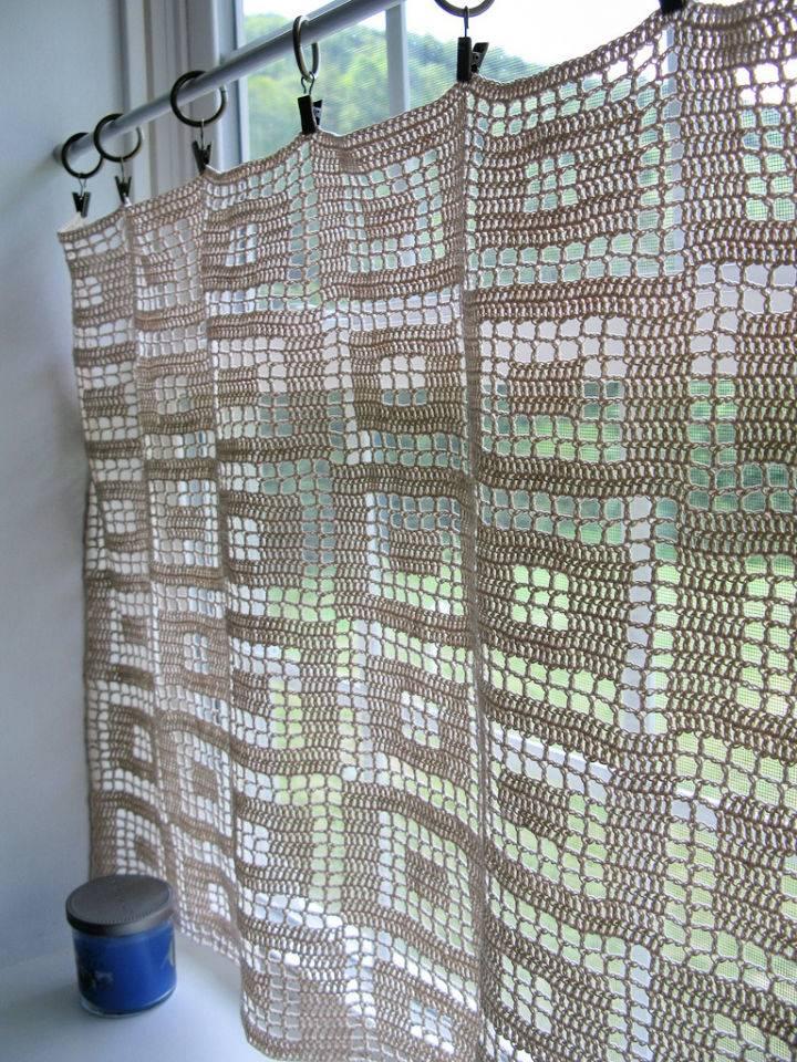 Crochet Blocks in Blocks Curtains