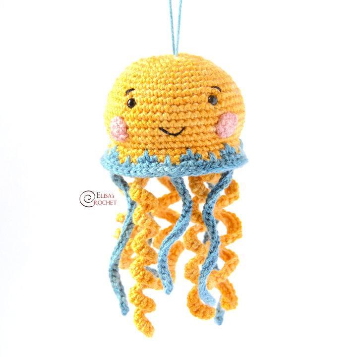 Crochet Bonnie the Jellyfish Amigurumi Pattern