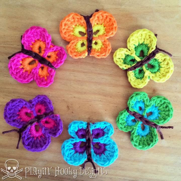 Crochet Bountiful Butterflies Pattern