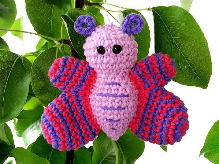 Crochet Butterfly Amigurumi Free Pattern