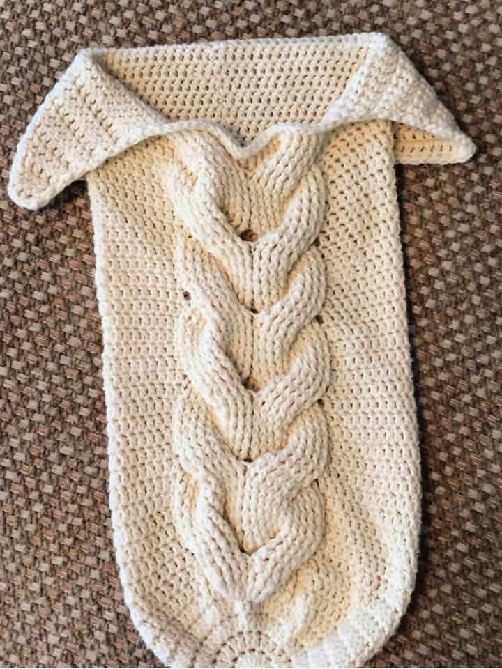Crochet Cabled Baby Cocoon