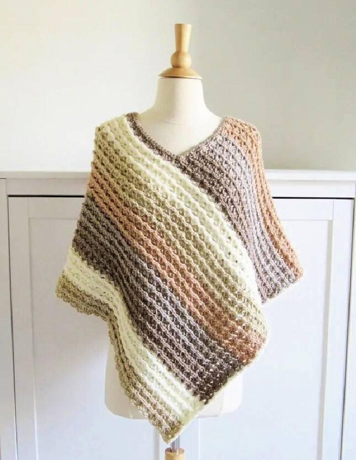 Crochet Caron Cakes Yarn Poncho