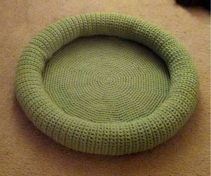Crochet Cat Bed Pattern