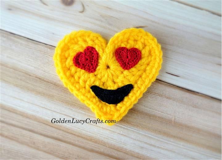 Crochet Eyes Emoji Valentines Heart
