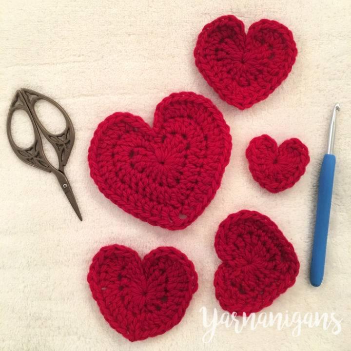 Crochet Felted Hearts – Free Pattern