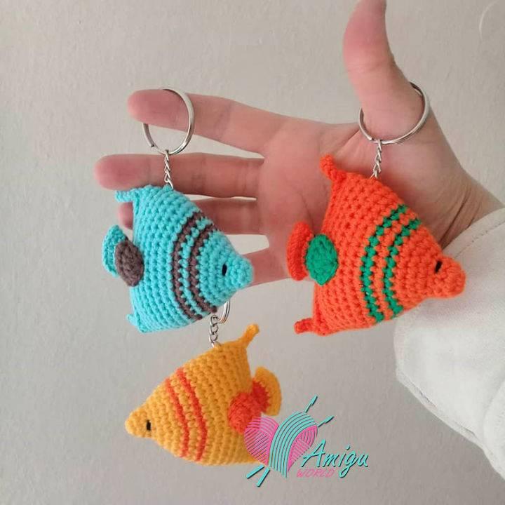 Crochet Fish Keychain Amigurumi