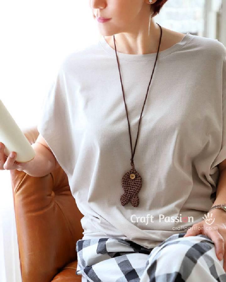 Crochet Fish Pendant