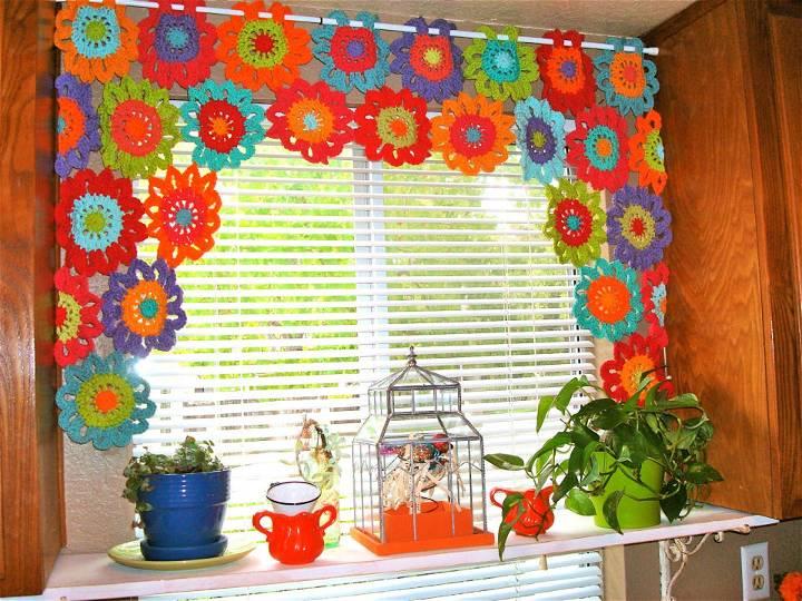 Crochet Flower Power Valance