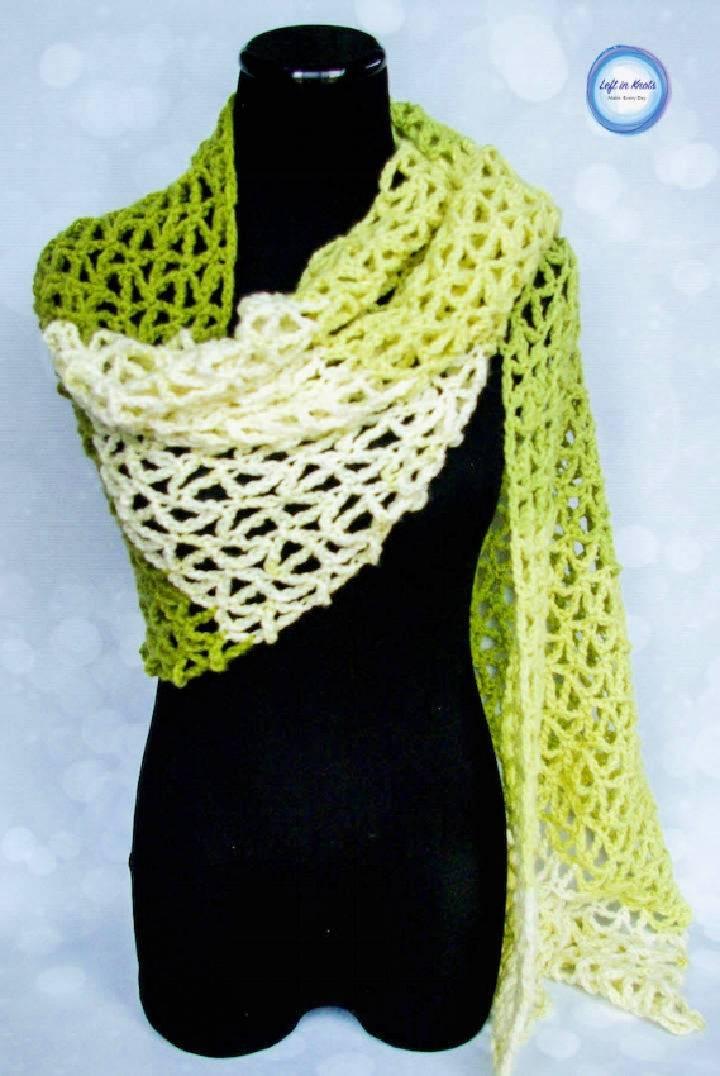 Crochet Greenery Wrap Free Pattern