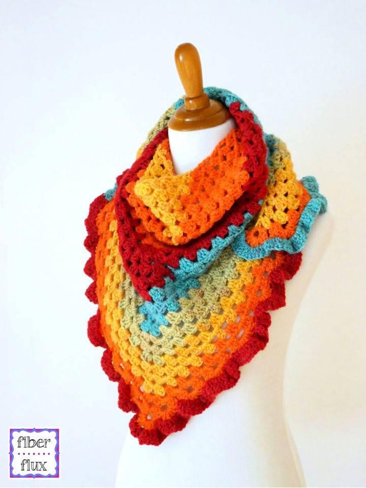 Crochet Happy Go Lucky Shawlette