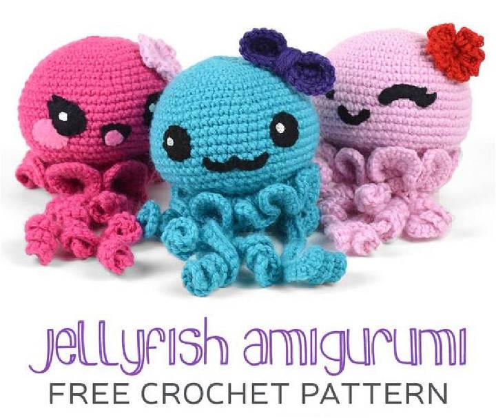 Crochet Jellyfish Amigurumi Pattern Free