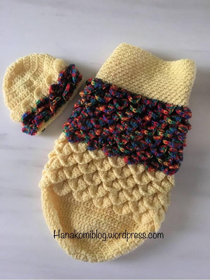 Crochet Layered Crocodile Stitch Cocoon