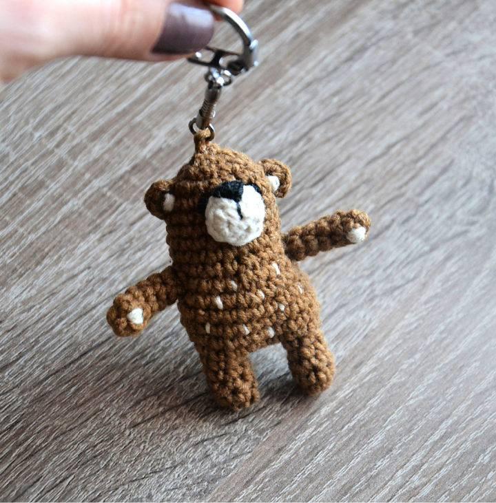 Crochet Little Bear Keychain