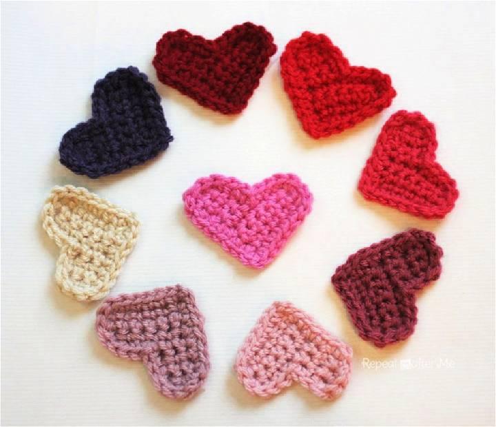 Crochet Little Hearts Pattern
