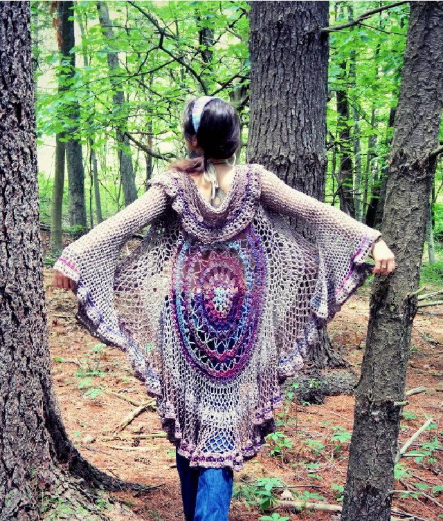 Crochet Lotus Mandala Duster