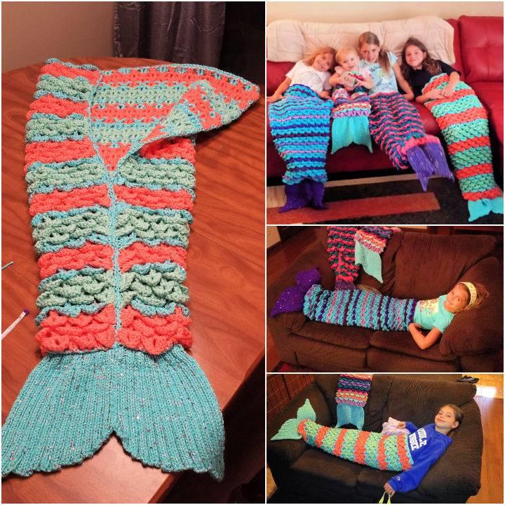 Crochet Mermaid Tail Pattern All Sizes