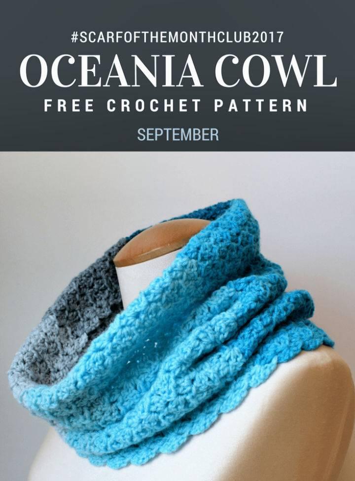 Crochet Oceania Cowl Pattern