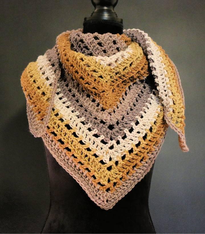 Crochet One Big Cake Shawl Scarf