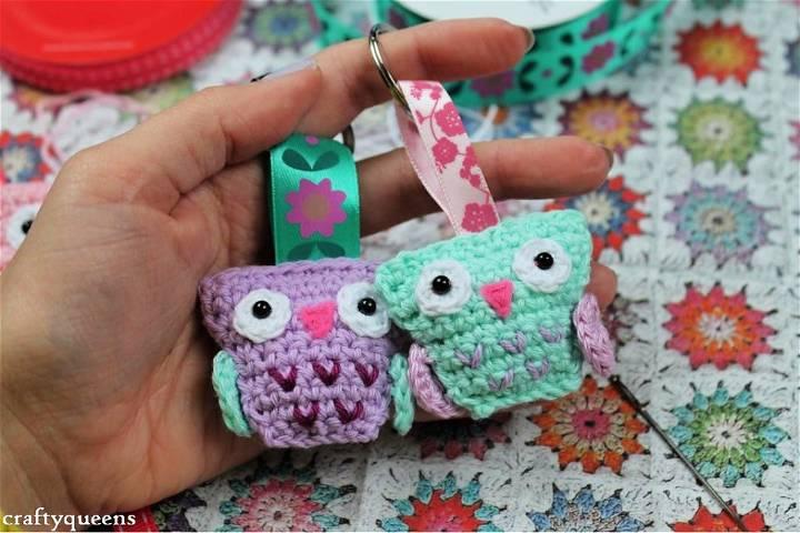 Crochet Owl Keychain Pattern