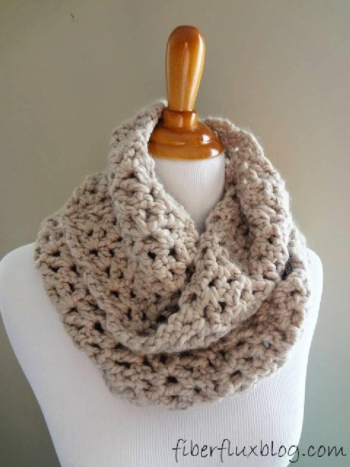 Crochet Pavement Infinity Scarf