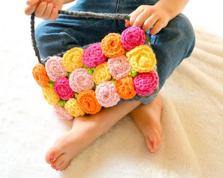 Crochet Roses Purse Pattern
