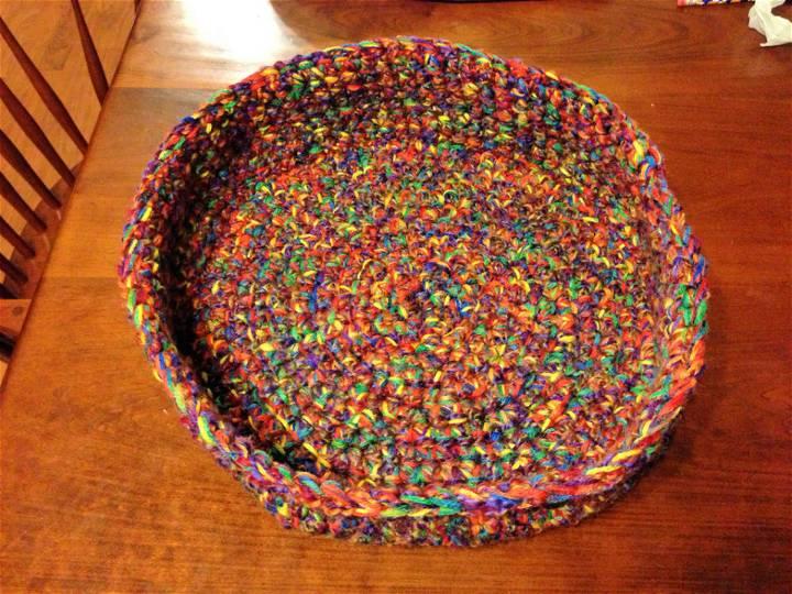 Crochet Round Cat Bed