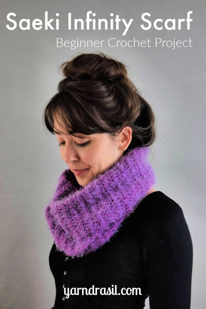 Crochet Saeki Infinity Scarf