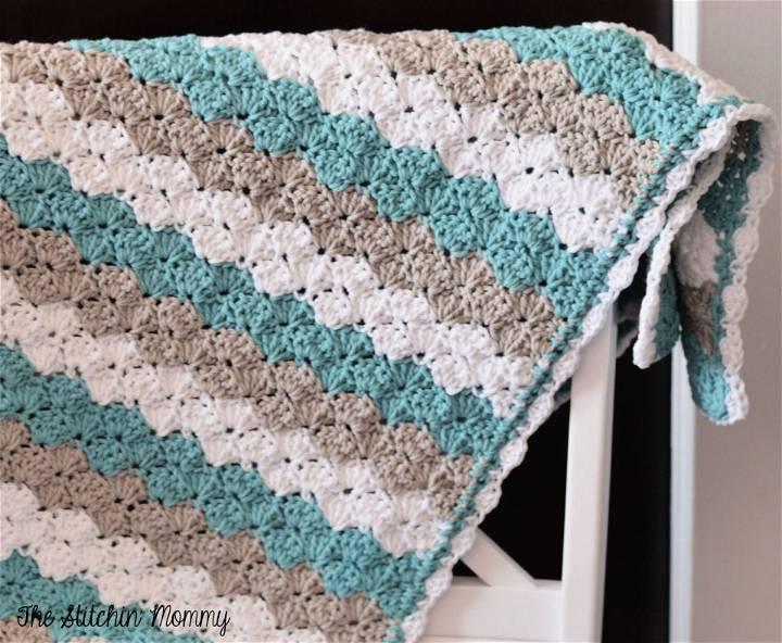 Crochet Shell Stitch Baby Blanket Pattern