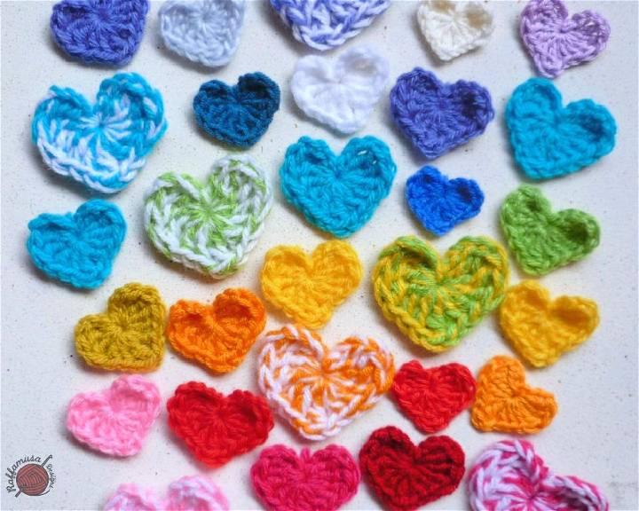 Crochet Small Heart Applique