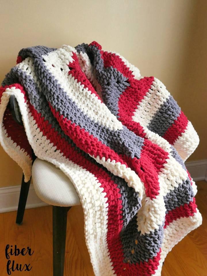 Crochet Snow Berries Throw Pattern