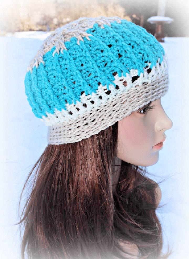 Crochet Snowy Mountain Beanie