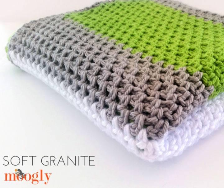 Crochet Soft Granite Baby Blanket