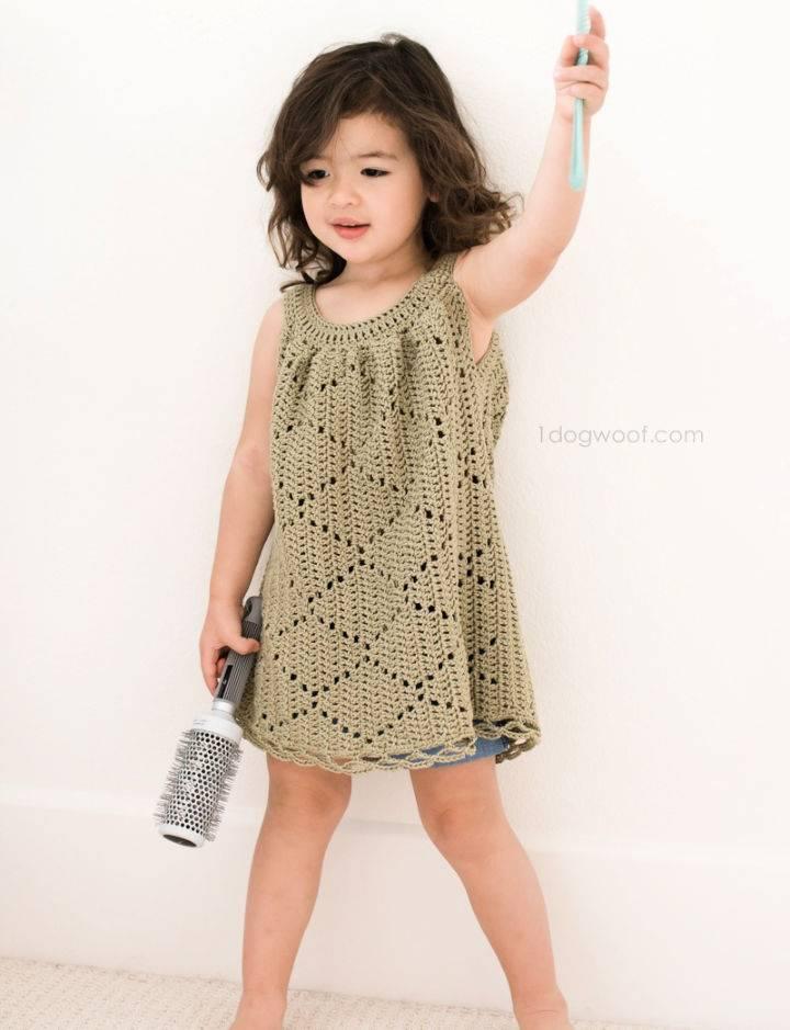 Crochet Summer Diamonds Toddler Dress