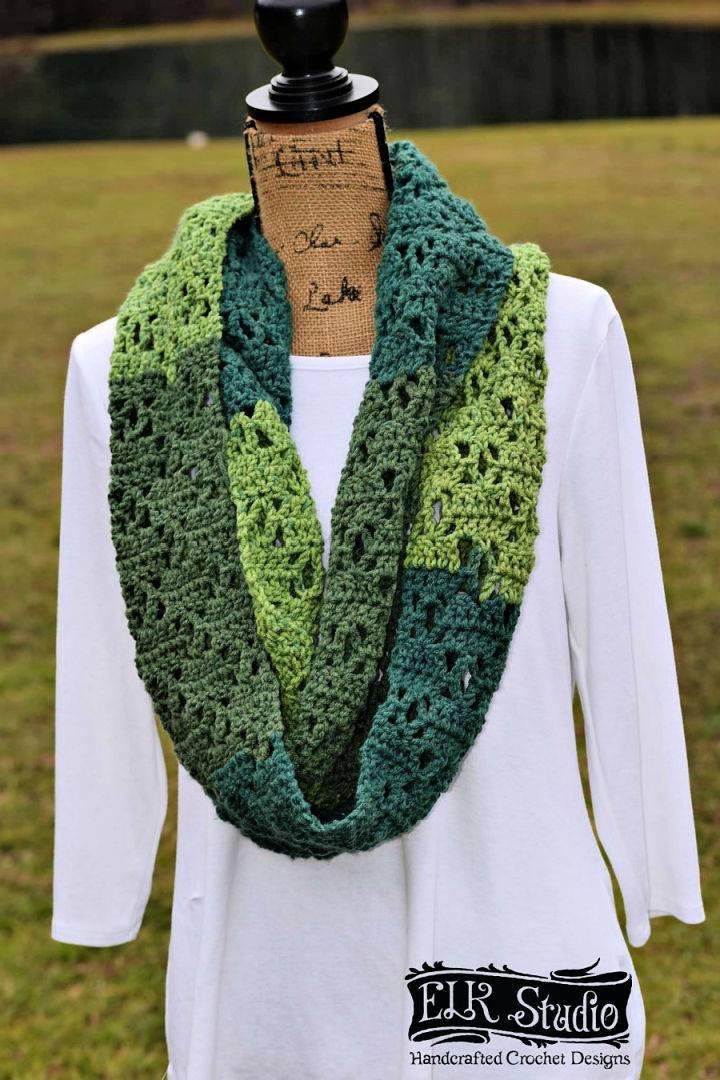 Crochet The Vintage Bloom Infinity Scarf