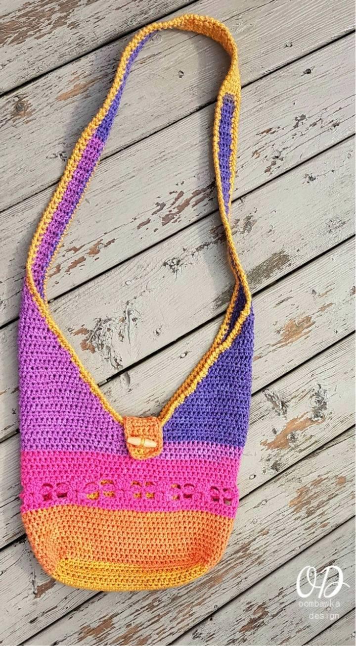 Crochet Tropical Paradise Crossbody Bag