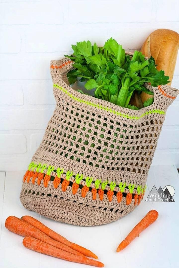 Crochet Vegetable Market Bag Pattern