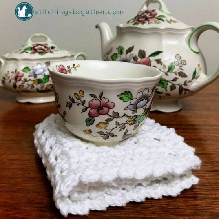 Crochet Waffle Stitch Dishcloth