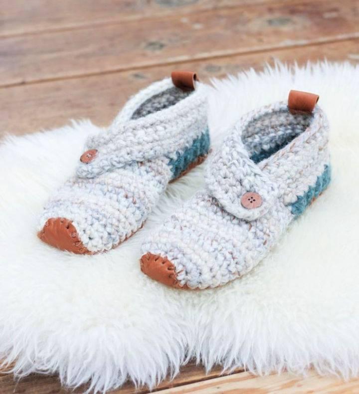 Crochet Womens Sunday Slippers Pattern