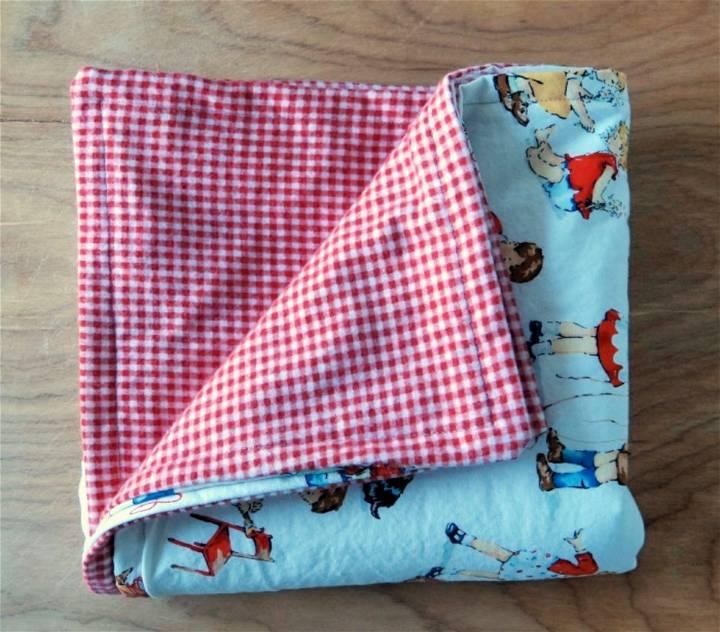 DIY 30 Minute Baby Blanket