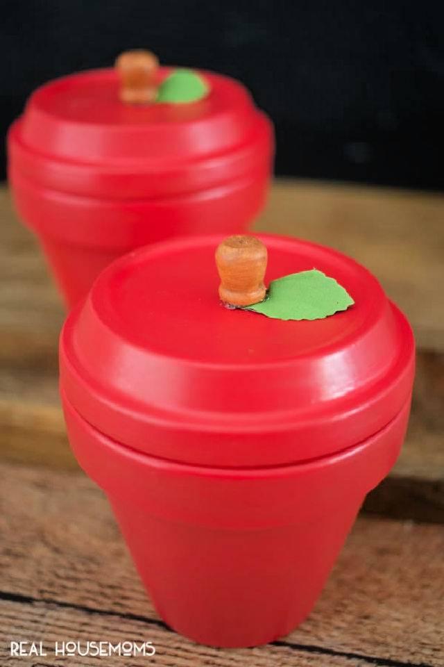 DIY Apple Terracotta Pots