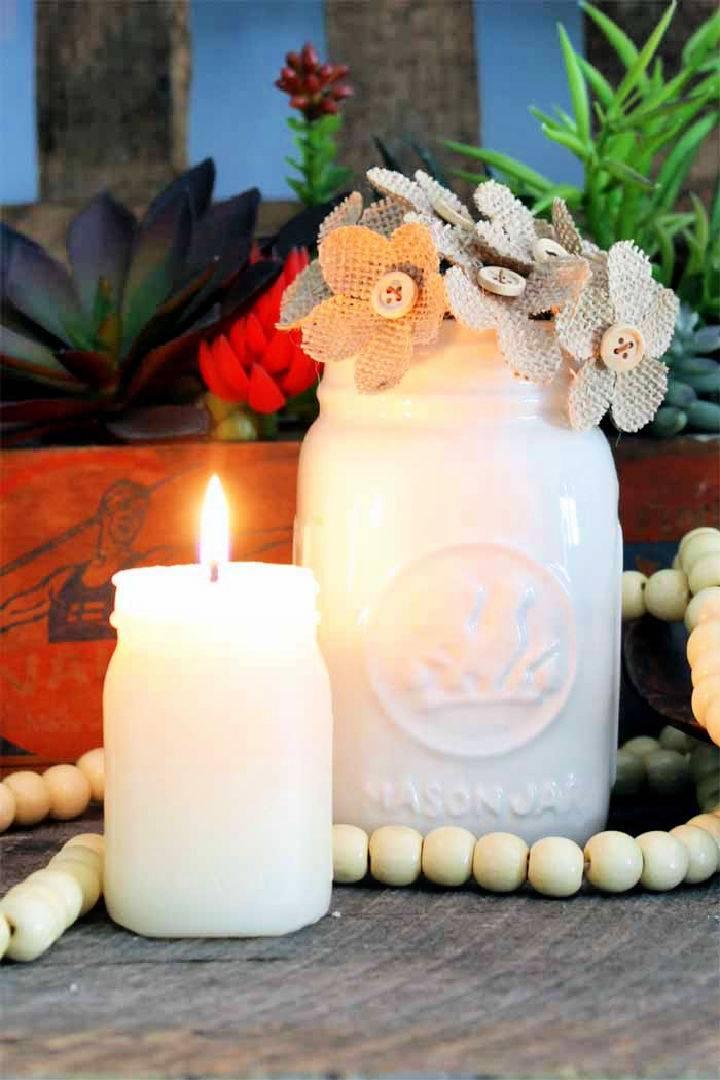 DIY Candle Making Mason Jar Candles