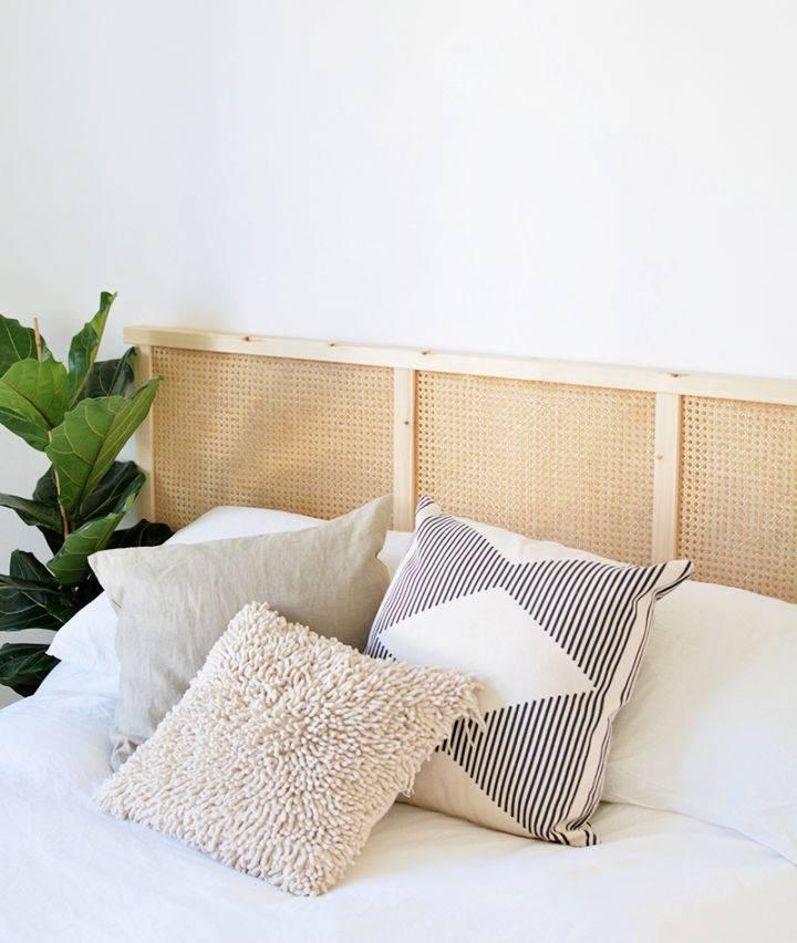 DIY Cane Headboard IKEA Hack