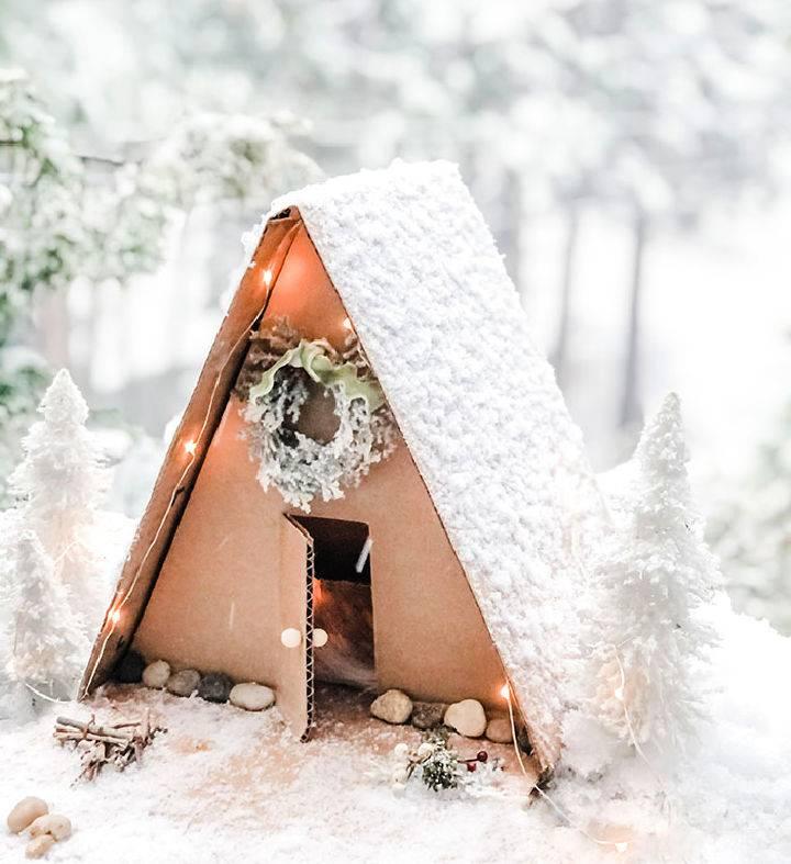 DIY Cardboard A Frame Cabin