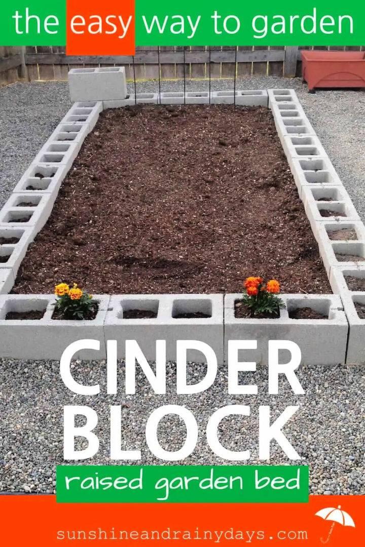DIY Cinder Block Raised Garden Bed