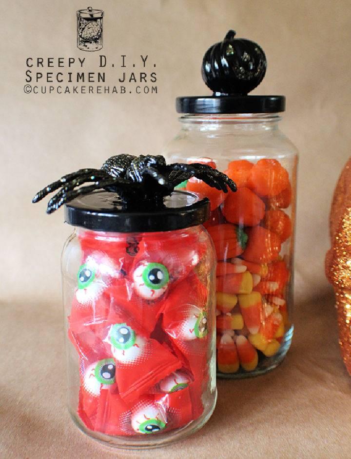 DIY Creepy Candy Specimen Jars