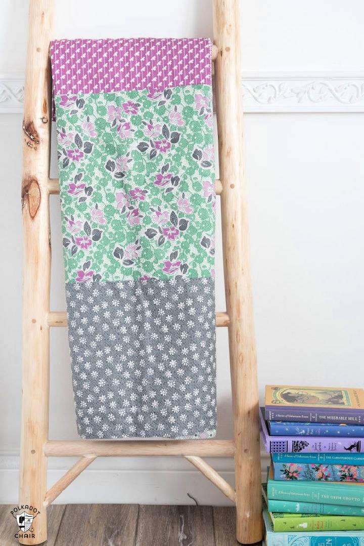 DIY Elf Binding Minke Baby Blanket