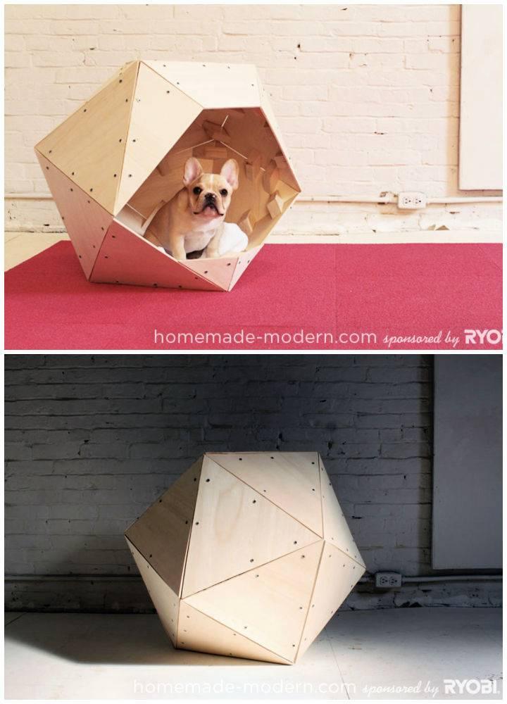 DIY Geometric Doghouse