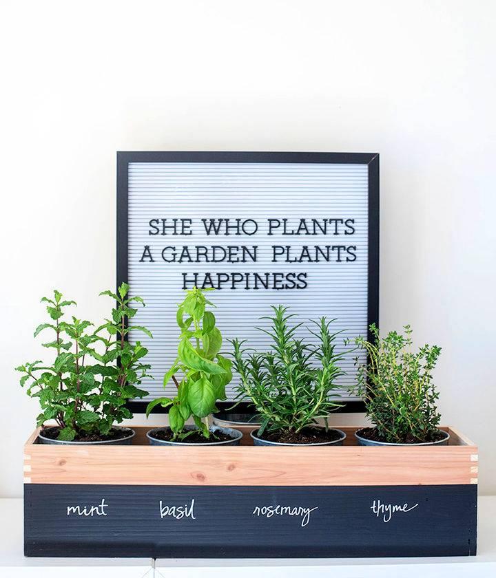 DIY Herb Garden Planter 1
